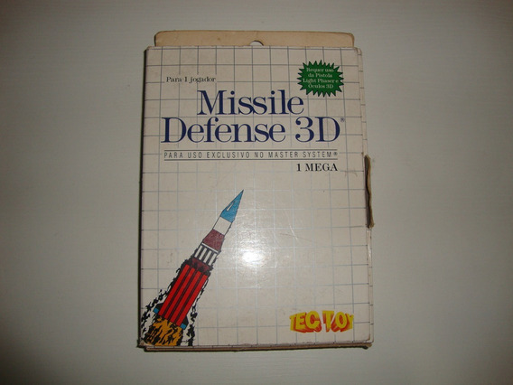Missile Defense 3d Tec Toy Completo Para Master System