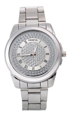 Relógio Casual Feminino Geneva Prata
