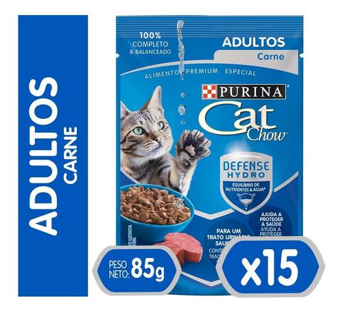 Pack Cat Chow® Adultos Carne 85 Gr