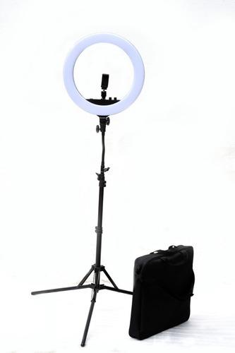 Imagen 1 de 10 de Luz Ring Led Anillo P/ Maquillaje Espejo Sop Celular Tripode