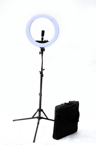 Luz Ring Led Anillo P/ Maquillaje Espejo Sop Celular Tripode