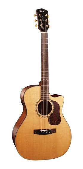 Violao Eletroacustico Cort Grand Auditorium Gold A6 Natural