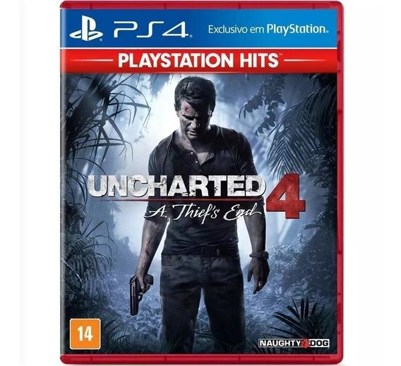 Uncharted 4 A Thiefs End Ps4 Mídia Física Português Lacrado
