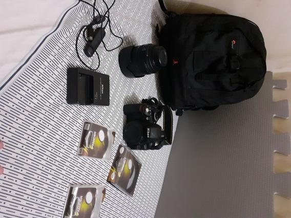 Câmera Fotográfica Nikon D3100 Com Lente 18 - 105mm