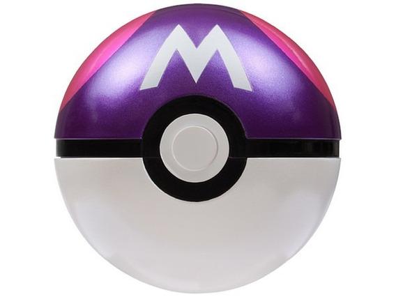 Pokemon Moncolle Pokebola Master Ball Original De Metal