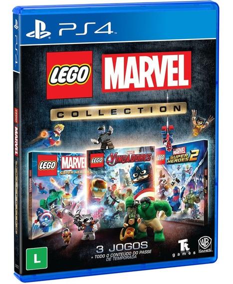 Lego Marvel Collection Ps4 3 Jogos Mídia Física Português