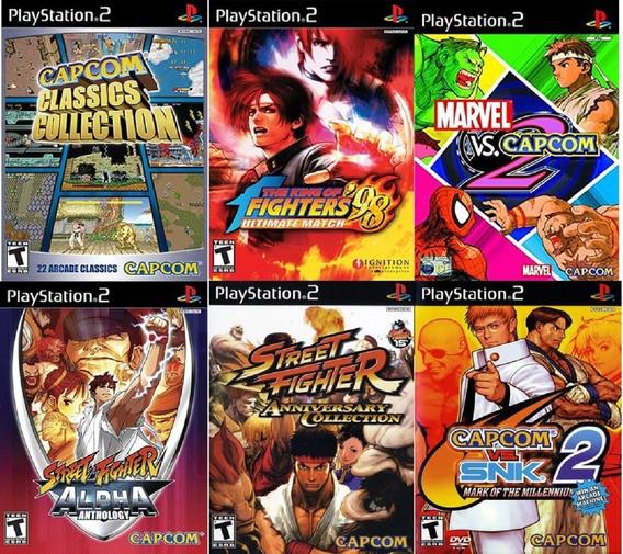 Coleção Jogos De Luta Para Ps2 Street Fighter Marvel