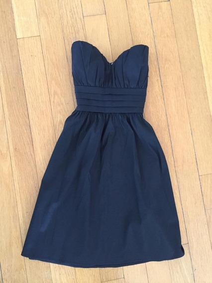 Vestido Negro Fiesta Corto , Forever 21 . Impecable