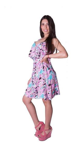 Vestido Corto Estampado Verano Fibrana