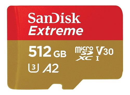 Sandisk Extreme Micro Sd 512gb Uhs-i U3 160 Mb/s 4k Gopro