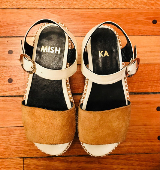 Zapatos Plataformas Mishka N37 Blancos Y Maiz