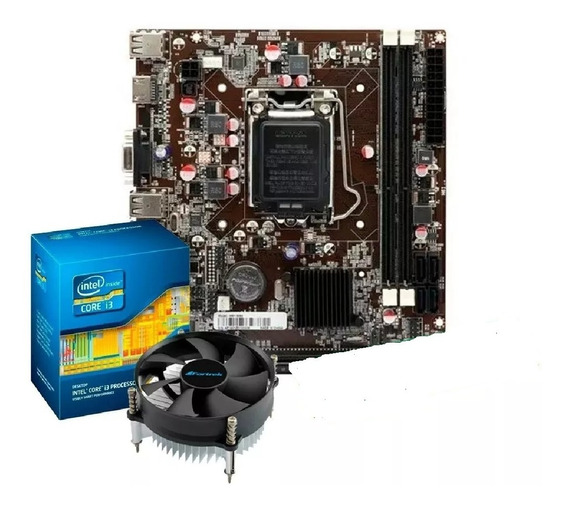 Kit Core I3 2100 + Placa Mãe H61 1155 + Cooler Promoção