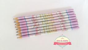 100 Lápis Escolar Personalizado - Unicórnio *frete Grátis*