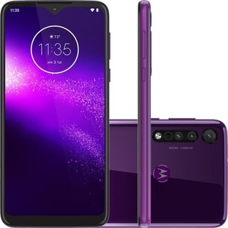 Motorola One Macro 64gb 13mp + 2mp + 2mp - Ultra Violet