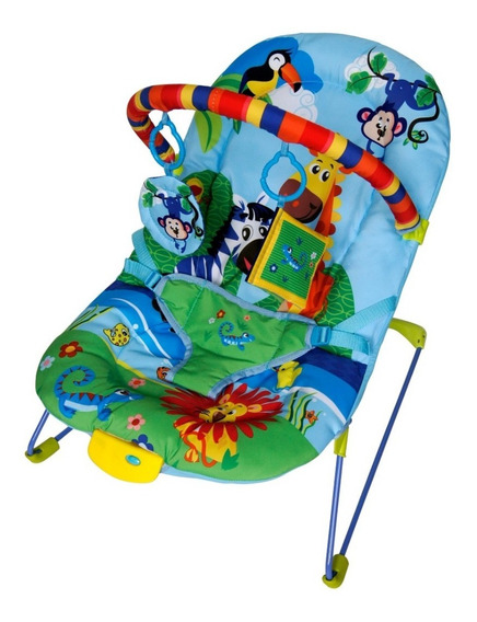 Cadeira Cadeirinha Descanso Bebê Musical Soft Ballagio Azul