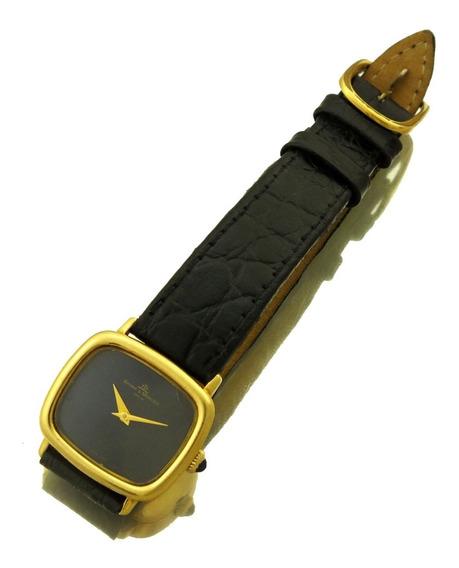 Relógio De Pulso Masculino Baume & Mercier Geneve Safira Caixa De Ouro 18k Movimento A Corda Mostrador Original J17305
