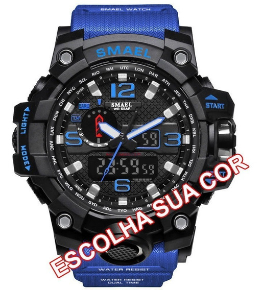 Relógio Masculino Smael 1545 S-shock Digital