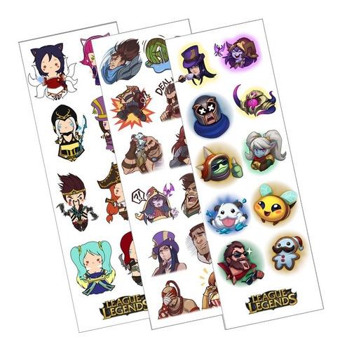 Plancha De Stickers De League Of Legends Lol
