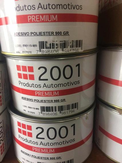 Massa Poliéster 2001 900 Gr Caixa 12 Pcs