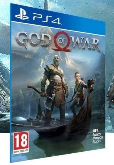 God Of War Ps4 Envelope Midia Física 100% Português