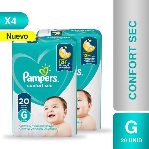 Imagen 1 de 5 de Pañales Pampers® Confort Sec -  Caja De 4 Paquetes Talla G