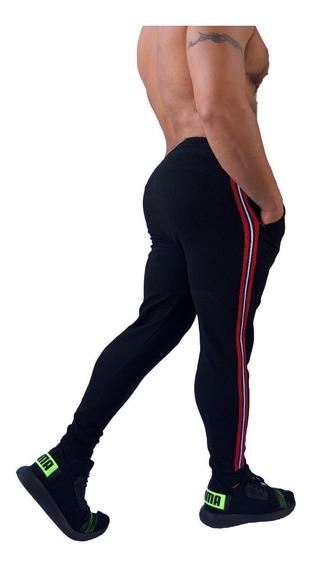 Sudadera Jogger Franjas, Pantalón Hombre Slim Fit Colores