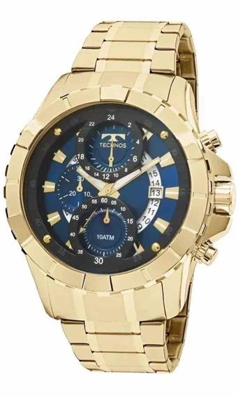 Relógio Technos Masculino Cronógrafo Dourado Js15em/4a