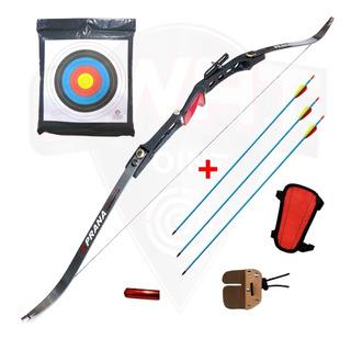 Arco Recurvo Prana Td5 Olimpico 3 Flechas Protect Cont Cera