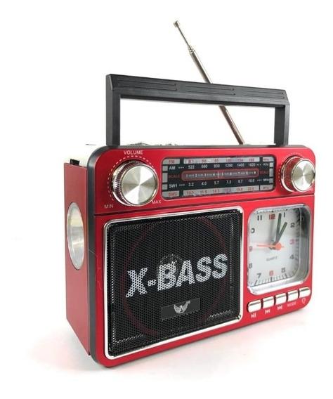 Rádio Relógio A-135 Altomex Am/fm/usb/tf Portátil