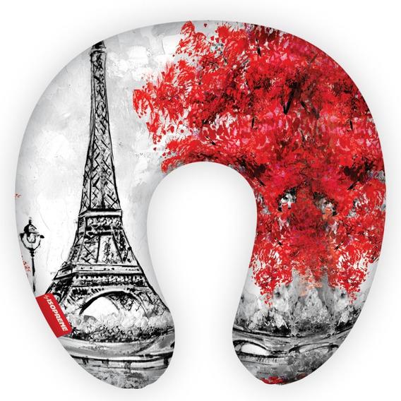 Almofada De Pescoço Para Viagens Paris Florido Isoprene