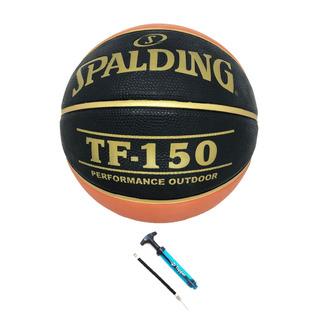 Kit Bola Basquete Spalding Tf150 + Brinde 1 Bomba De Ar