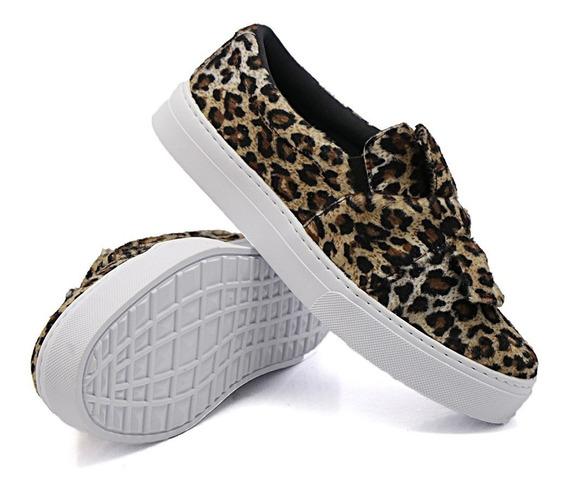 Slip On Dk Shoes Sola Baixa Laço Modinha Estiloso
