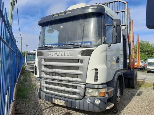 Scania G380 Camión Doble Eje Forestal Con Zorra Montenegro