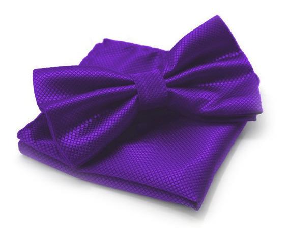 Moño Corbata Doble Y Pañuelo P/ Hombre Traje Colores Varios