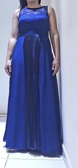 Lindo Vestido Festa Longo Azul Marinho