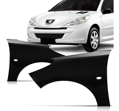 Par Paralama Dianteiro Peugeot 207 08 09 10 11 12 13