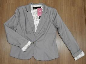 Maxi Blazer Lady Rock Cinza Cod. 9168
