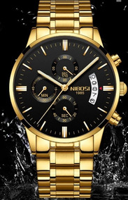 Relógio De Pulso Marca Nibosi Original De Luxo Prova D