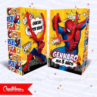 Hombre Araña Comic Spiderman Bolsitas Personalizadas X30