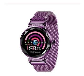 Relógio Inteligente Pulseira De Fitness Atividade Roxo