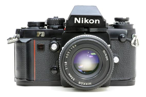 Nikon F3 + 50mm Kit Limpo E Revisado + 2 Filtros