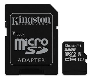 Cartão de memória Kingston SDCS Canvas Select com adaptador SD 32GB