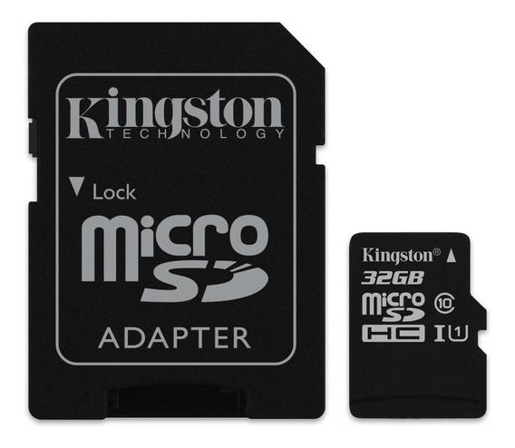 1 Kit Com 4 Cartões Memória Micro Sd 32gb Kingston 100 Mb/s