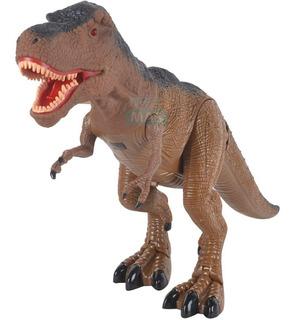 Dinosaurio Juguete T Rex Camina Mueve El Cuello Luz Y Sonido