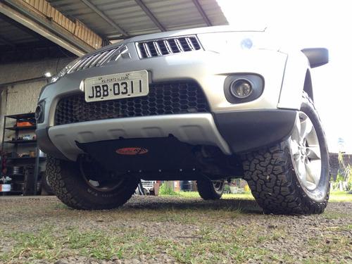 Imagem 1 de 3 de Kit Protetores Mitsubishi L200 Triton E Pajero Dakar