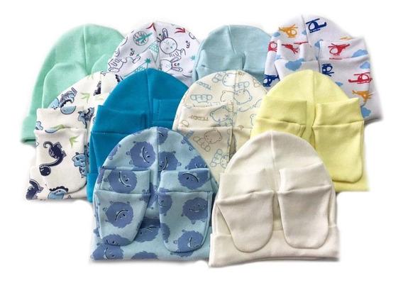 6 Kits De Touca E Luvas Rn - 100% Algodão