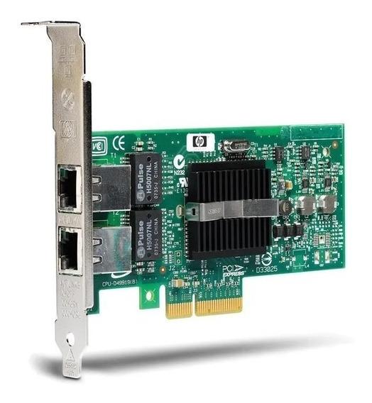 Placa Rede Dual Port Hp Nc360t - Perfil Alto E Baixo