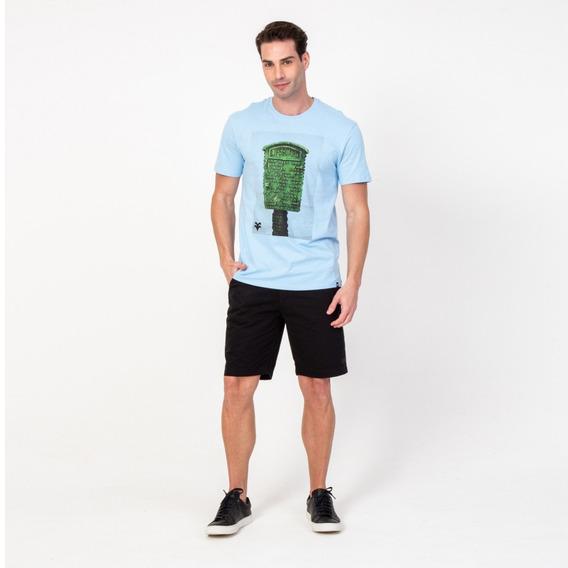 Camisa T-shirt Masculina Azul E Verde Lifeguard Vonpiper