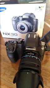 Câmera Samsung Nx30 Na Caixa Com Lente 18-55mm
