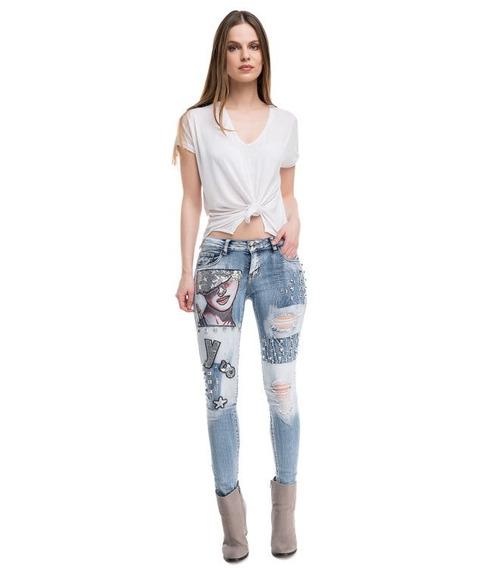Calças (feminino) Jean 17111